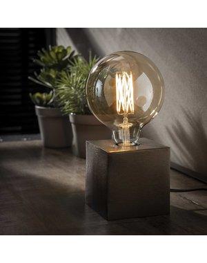 Tafellamp block/Zwart nikkel