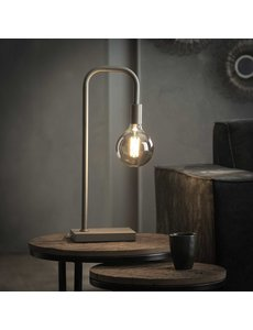Tafellamp U-vormige buis / Mat nikkel