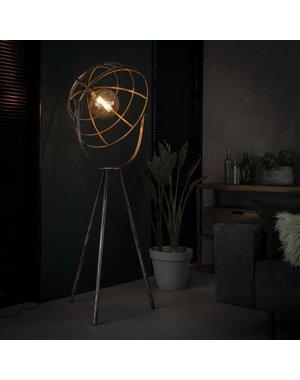 Vloerlamp Ø50 dome / Oud zilver