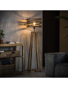 Vloerlamp twist houten kruisframe / Slate grey