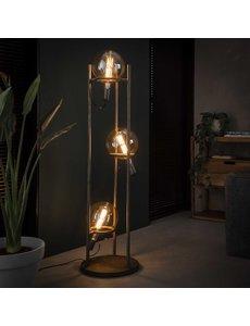 Vloerlamp 3L saturn Ø20 lichtbron / Oud zilver