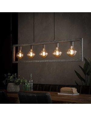 Hanglamp 5L steps / Oud zilver