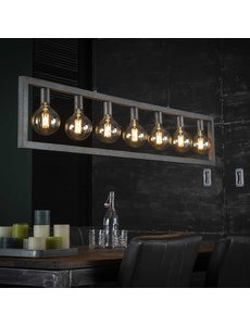 Hanglamp 7L steps / Oud zilver