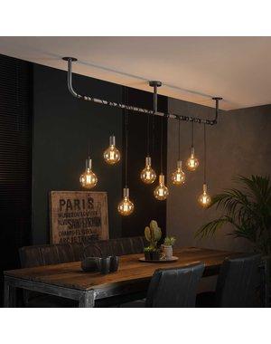 Hanglamp 8L wikkel / Oud zilver
