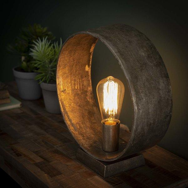 Tafellamp Loop / Antiek Nikkel