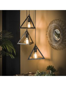 Hanglamp 3x pyramide / Charcoal * Showroommodel