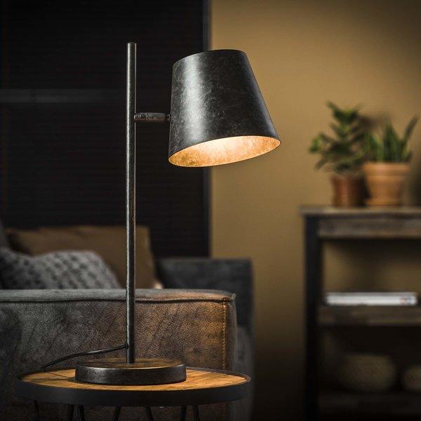 Tafellamp 1L verstelbare metalen kap / Charcoal