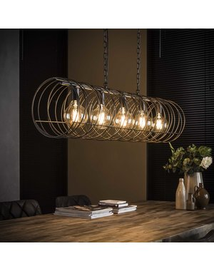 Hanglamp 5L spiraal Ø28 cilinder / Charcoal