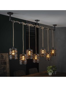 Hanglamp 7L twist wikkel XL / Slate grey