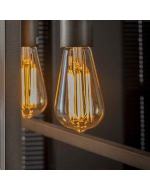Lichtbron LED filament druppel - E27 6W 2100K 450lm dimbaar / Amberkleurig glas