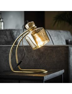 Tafellamp sledepoot amber glas