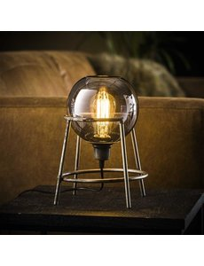 Tafellamp support globo - oud zilver
