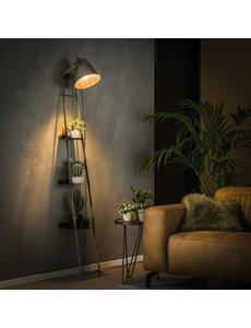 Wandrek / wandschap met vloerlamp