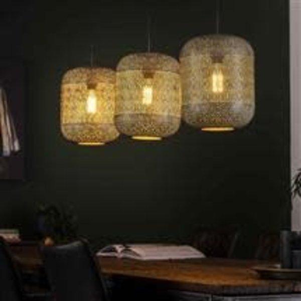 Hanglamp 3L etch / Oud zilver