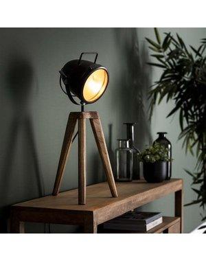 Tafellamp 1L spot-on / Massief mango naturel