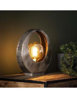 Tafellamp full moon / oud zilver