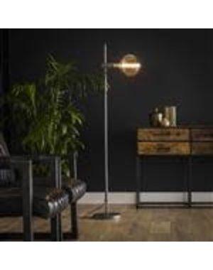 Vloerlamp 1L motion in hoogte verstelbaar / Oud zilver