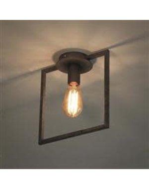 Plafondlamp 1L framed / Oud zilver