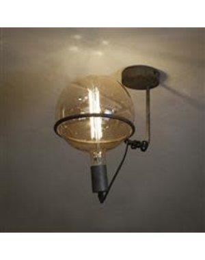 Plafondlamp 1L saturn voor 20 cm lichtbron / Oud zilver
