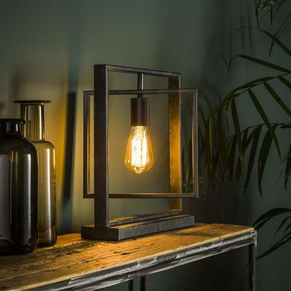 Tafellamp 1L Turn square / Charcoal