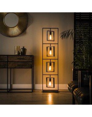 Vloerlamp 4L Turn square / Charcoal
