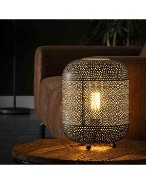 Tafellamp 1L etch / Oud zilver