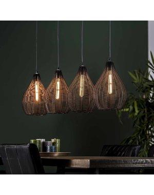 Hanglamp 4L druppel draadframe