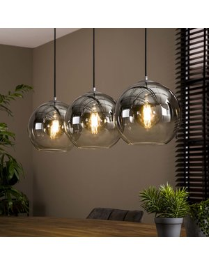 Hanglamp 3L bubble shaded