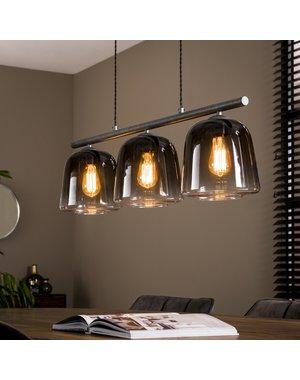 Hanglamp 3L grey shaded