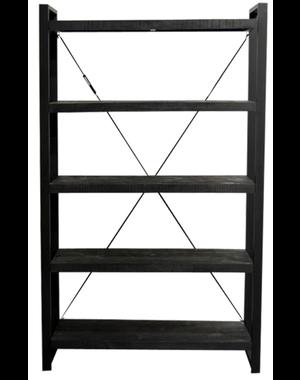 Wandrek Industrial Zwart Mango 120 cm