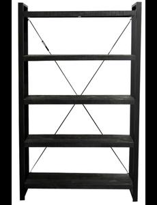 Wandrek Industrial Zwart Mango 160 cm