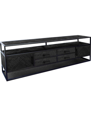 Tv meubel zwart mango Jax groot