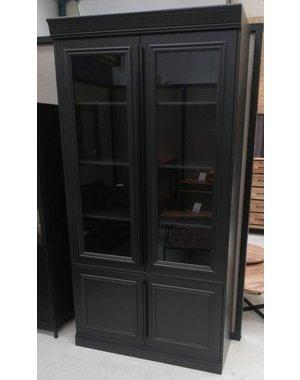 Vitrinekast zwart hout