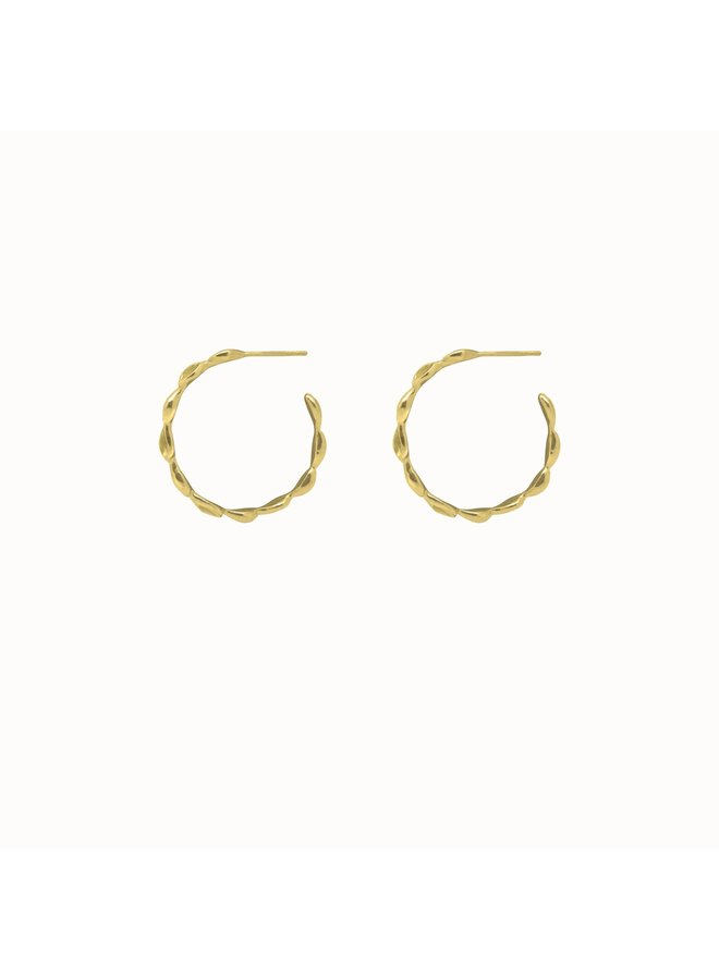 Flawed - Blossom Hoops Gold