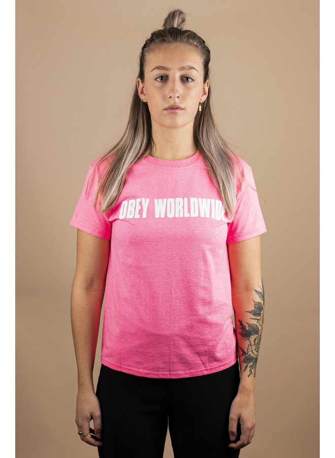 Obey - Worldwide Bold - Safety Pink