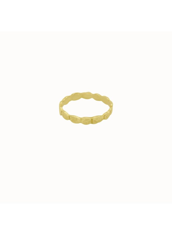 Flawed - Pebble Ring - Gold