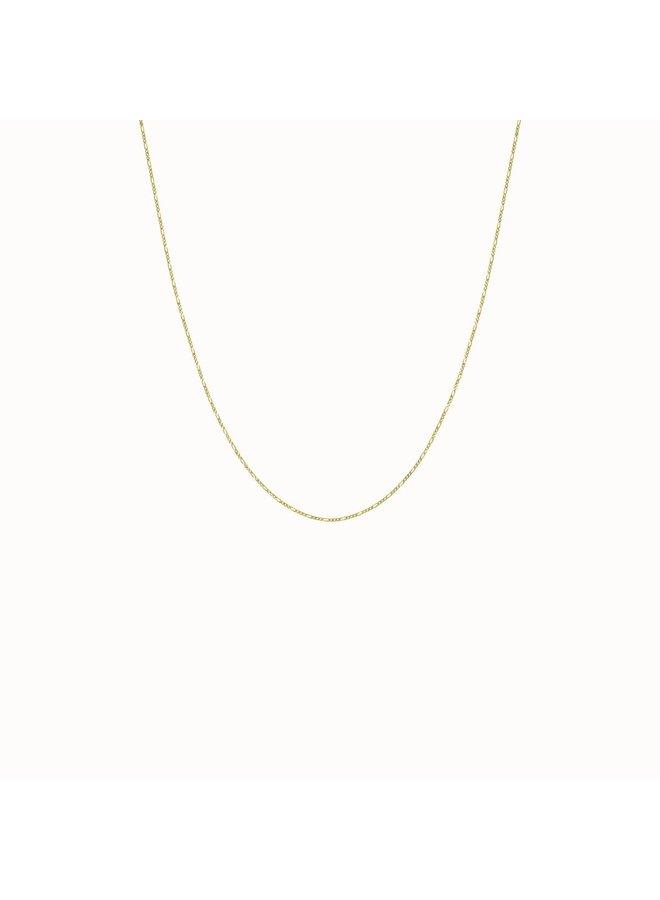 Flawed - Vintage Necklace - Gold