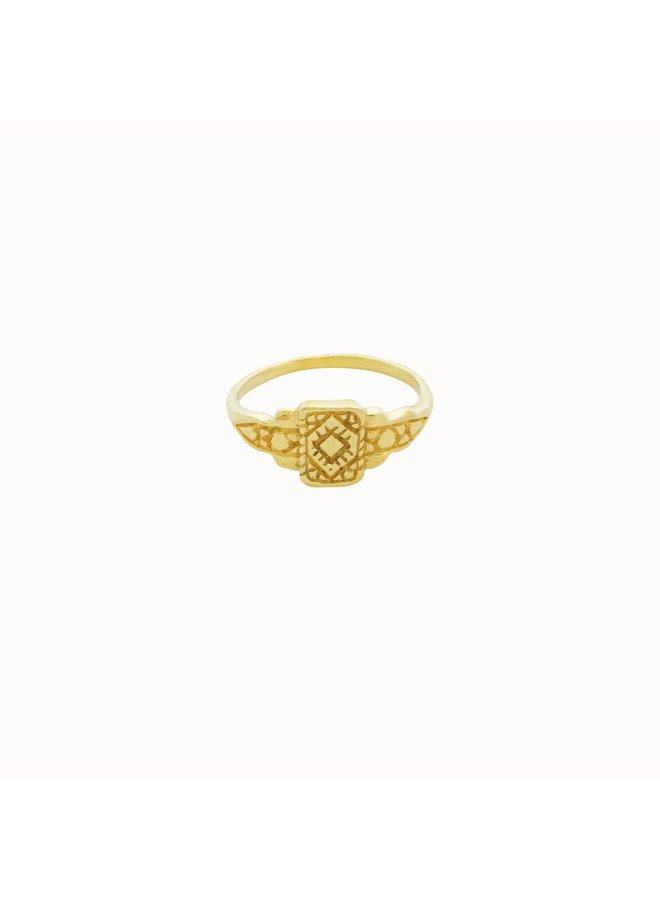 Flawed - Art Deco Ring Gold