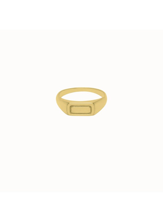 Flawed - Contour Ring Gold