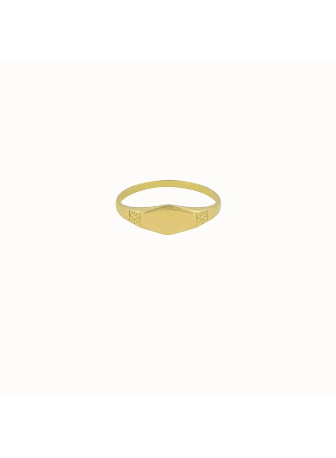 Flawed - Daisy Ring Gold