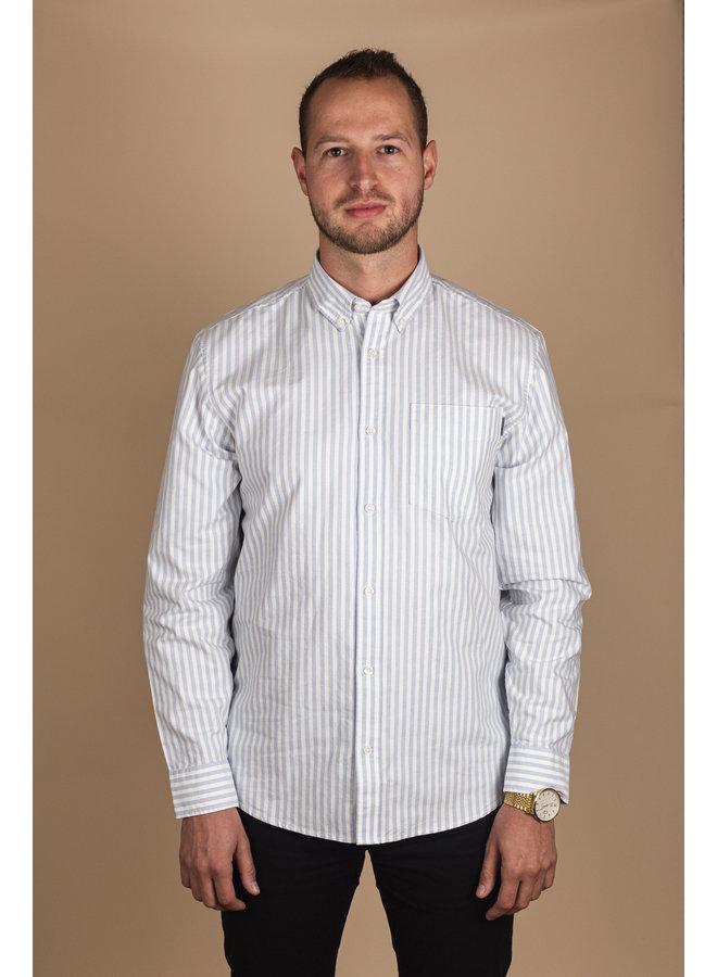Carhartt - L/S Simon Shirt - Simon Stripe, Bleach