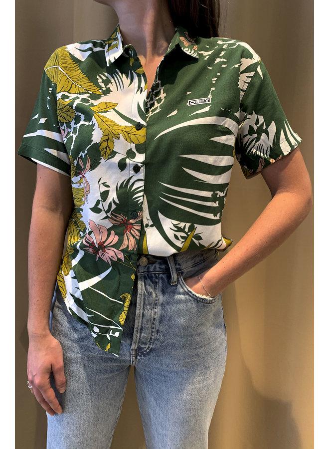 Obey - Tempt Shirt - Green Multi