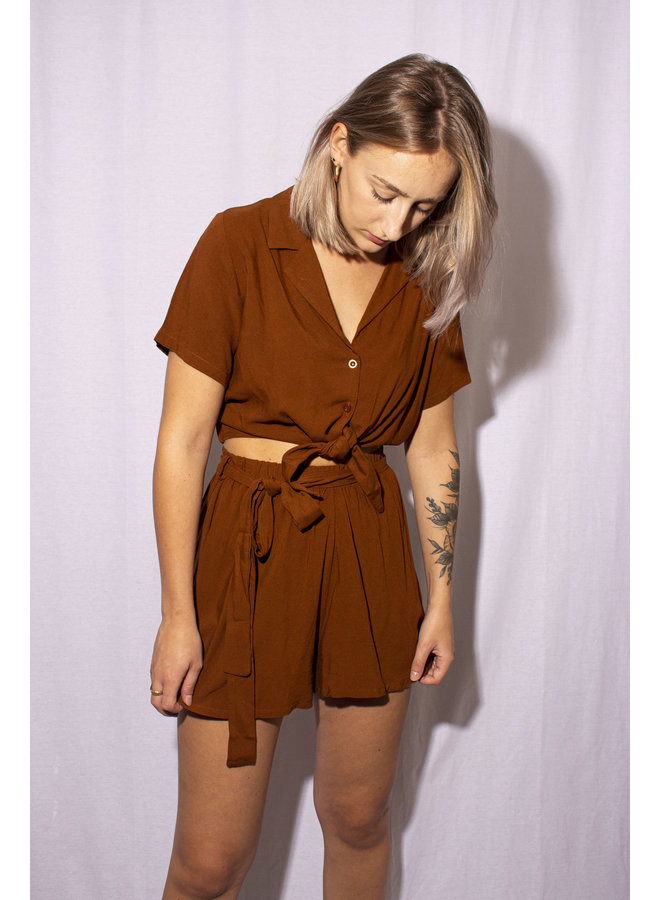 24Colours - Shorts - Brown (60464a)