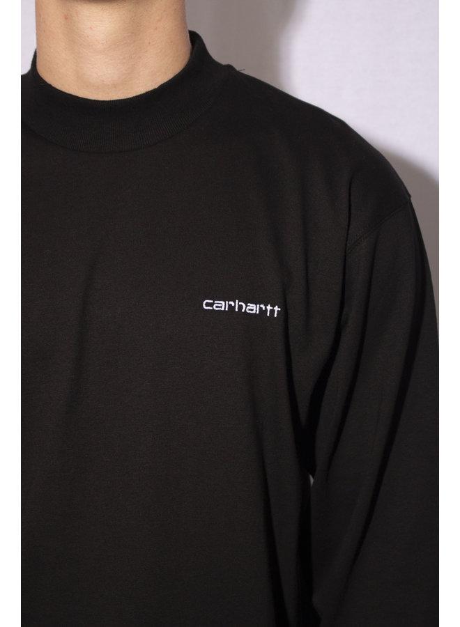 Carhartt - L/S Mockneck - Black/White