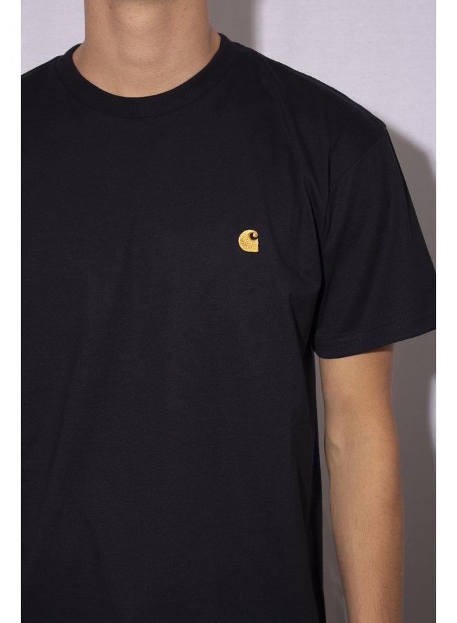 Carhartt - S/S Chase T- Shirt - Dark Navy/ Gold