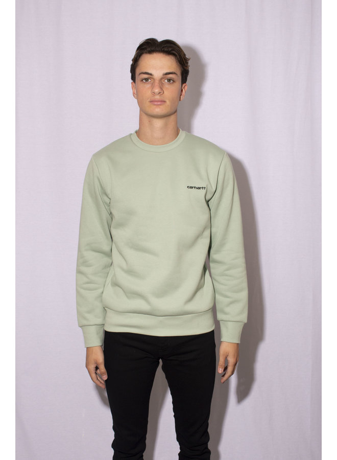 Carhartt - Script Embroidery - Frosted Green/Black