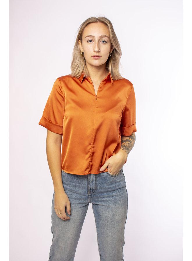 Rut & Circle - Olivia Shirt - Light Rust