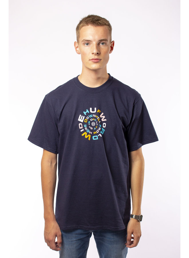 HUF - Downward Spiral S/S Tee - French Navy