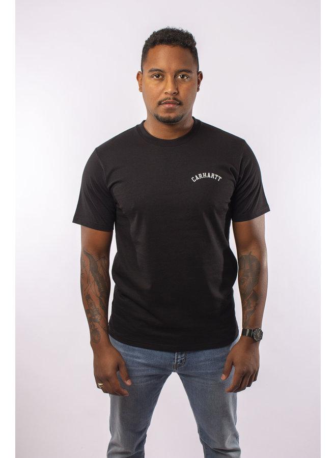 Carhartt - S/S University Script T- Shirt - Black/ White