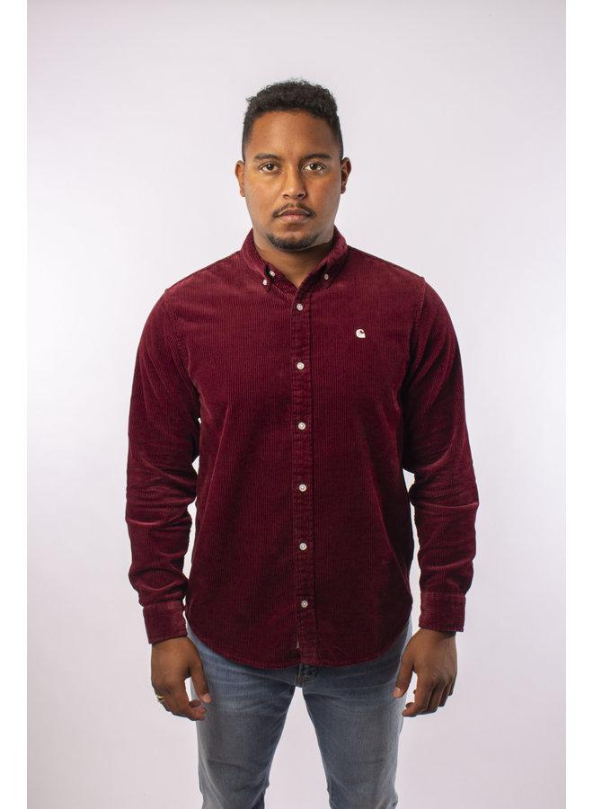 Carhartt - L/S Madison Cord Shirt - Bordeaux
